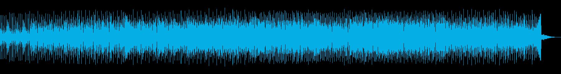 軽快なリズムと爽快感テクノの再生済みの波形