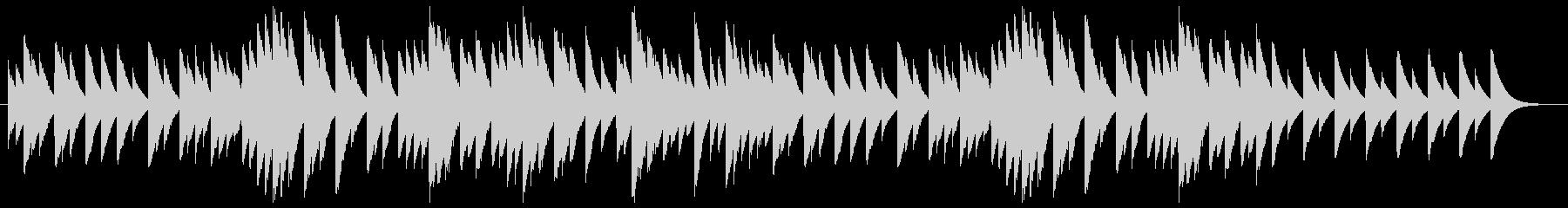 ミステリーのオルゴールのようなサウンドの未再生の波形