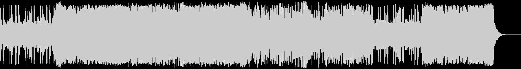 スピード感のあるロックBGMの未再生の波形