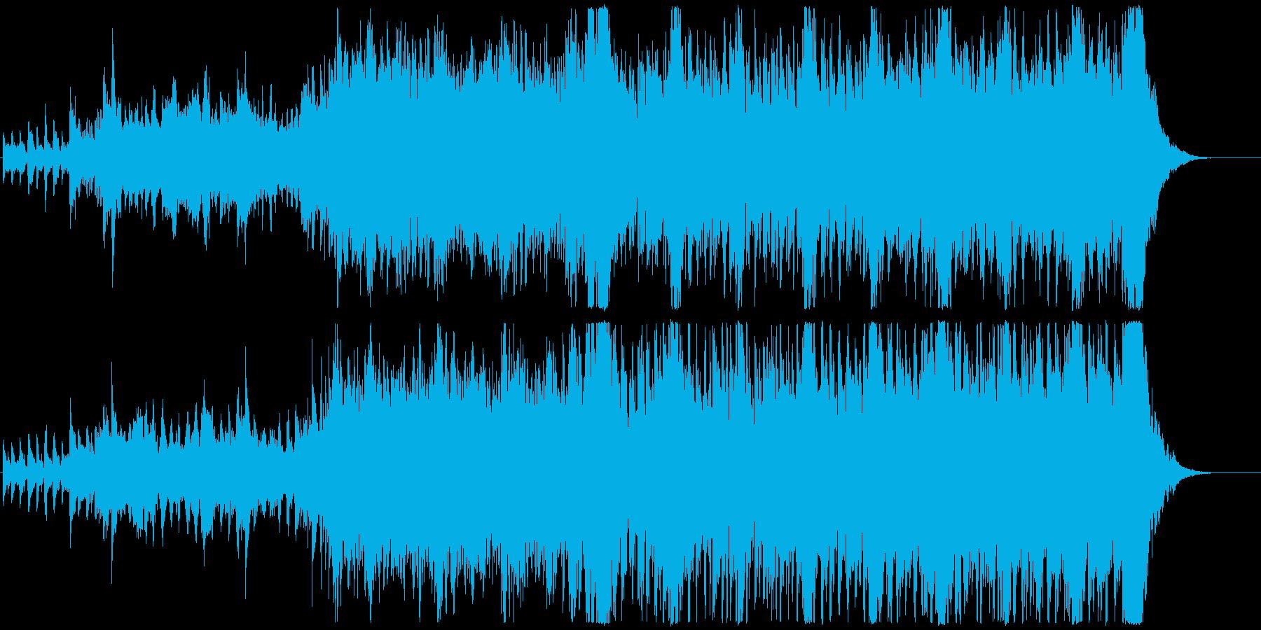 緊張感のあるオーケストラ系のBGMの再生済みの波形