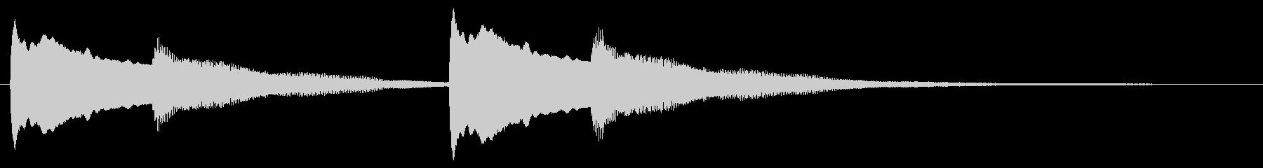 ハープシコードの音色でピンポンの未再生の波形
