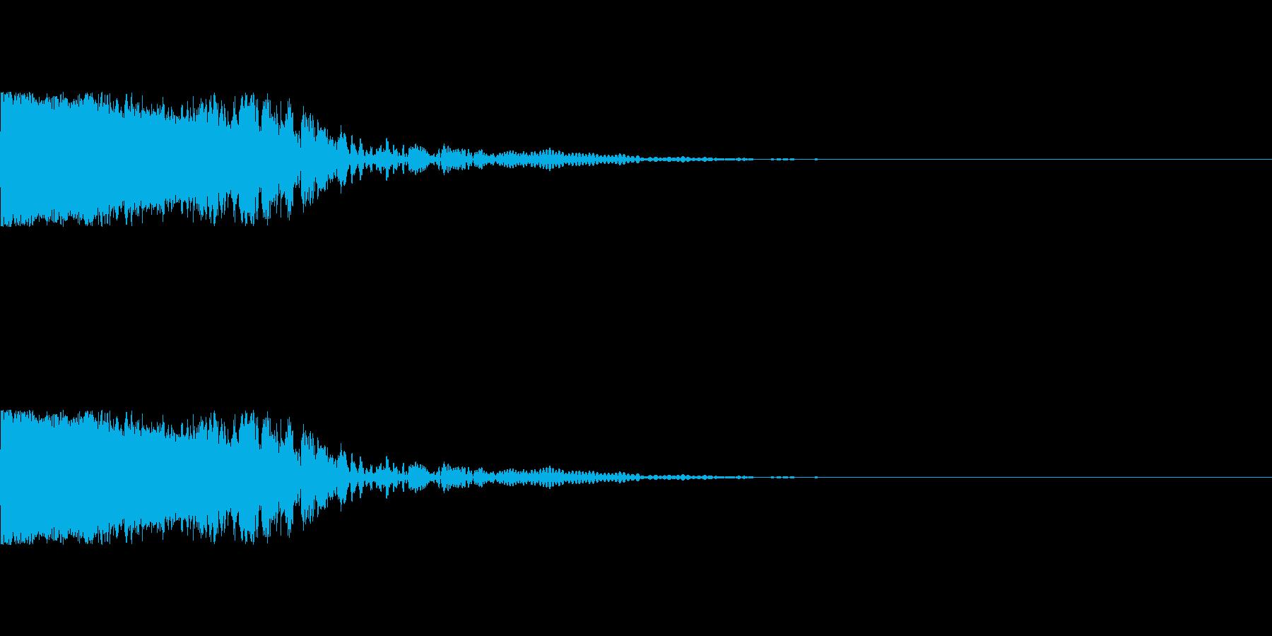 ピュン 通信終了・画面オフ・お知らせ音の再生済みの波形