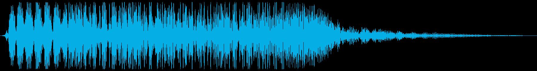 物が摩擦を帯びて落下する音の再生済みの波形