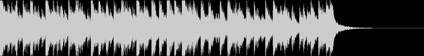 琴、電子音ダーク/ジングルの未再生の波形