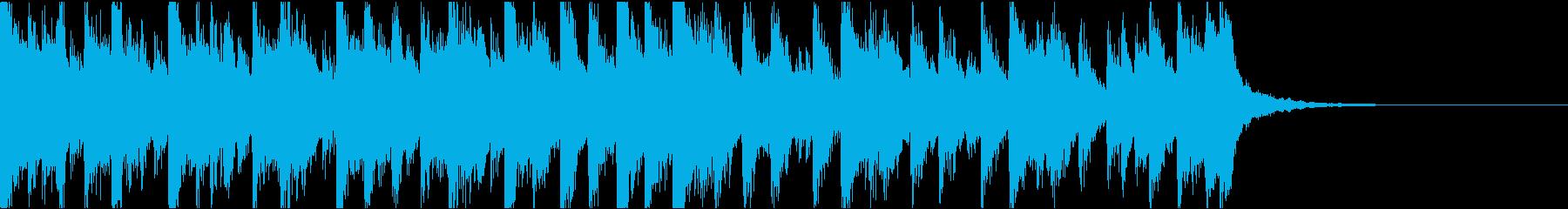 琴、電子音ダーク/ジングルの再生済みの波形