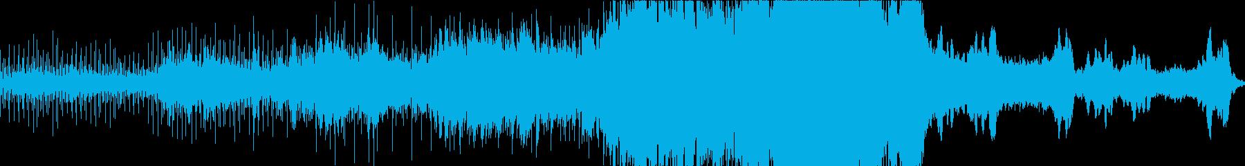 ゆったりとしたスケール感のあるエレクトロの再生済みの波形