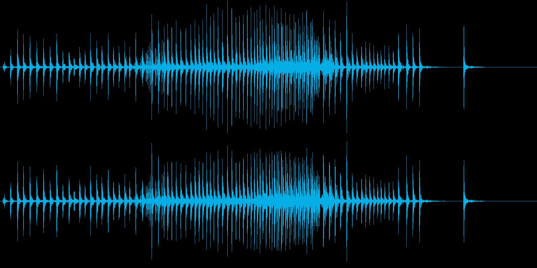 【生録音】ぎゅーっと強く握り締める音 1の再生済みの波形
