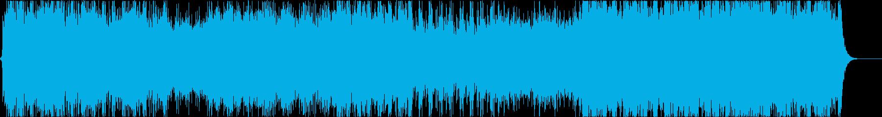 壮大なクワイアのファンタジー曲の再生済みの波形