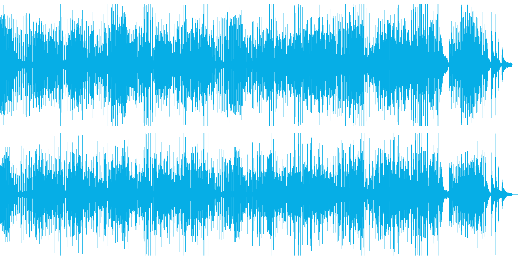 ピアノのフレンチジャズ風ポップスの再生済みの波形