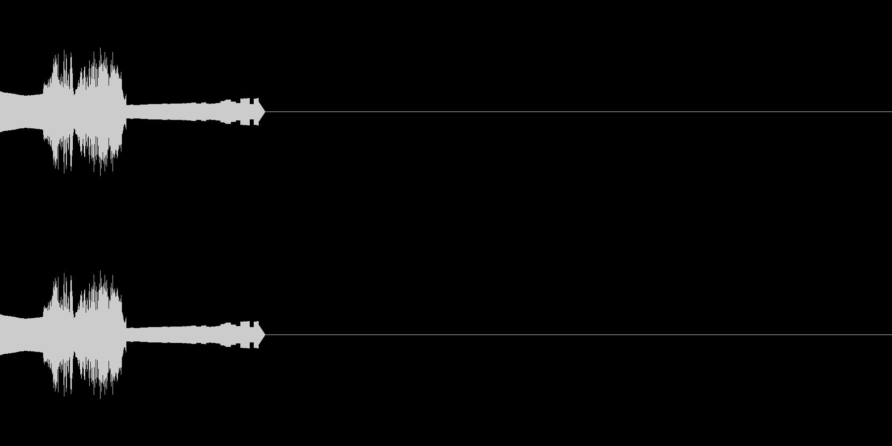 神経にさわる効果音の未再生の波形