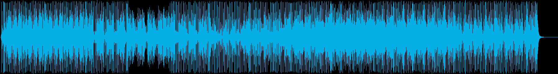 クール-ファンキーなウッドベースビートの再生済みの波形