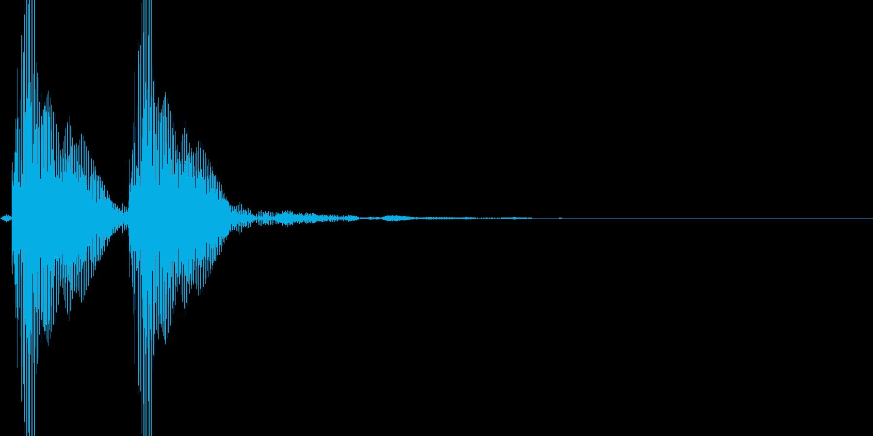小太鼓ポポン低めの再生済みの波形