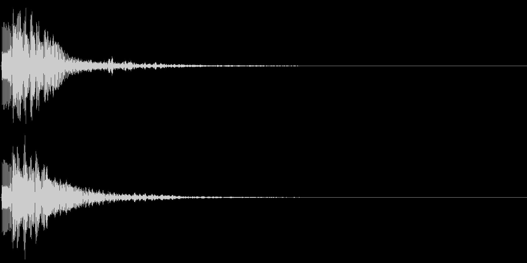 ピロン(スコアカウンター音、選択決定音)の未再生の波形