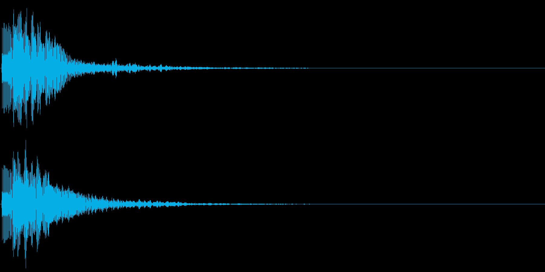 ピロン(スコアカウンター音、選択決定音)の再生済みの波形