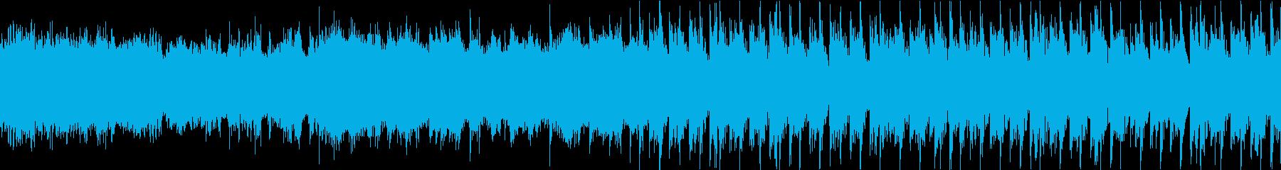 エネルギッシュなハウストラックの再生済みの波形