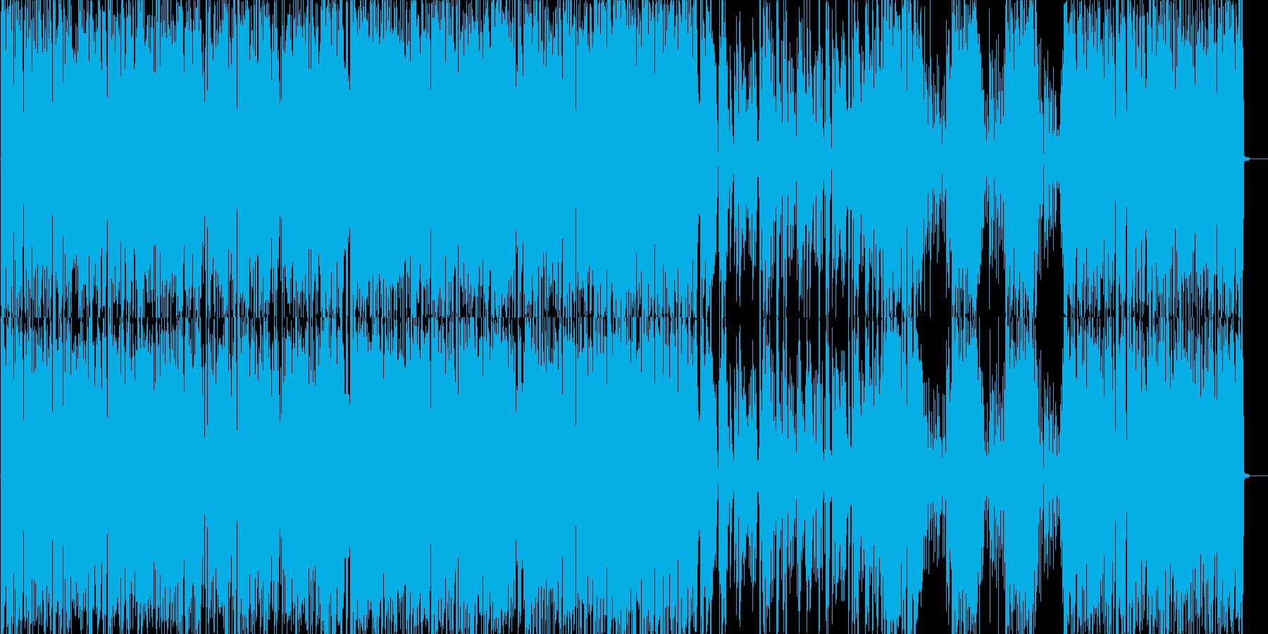軽快なブルースピアノトリオの再生済みの波形