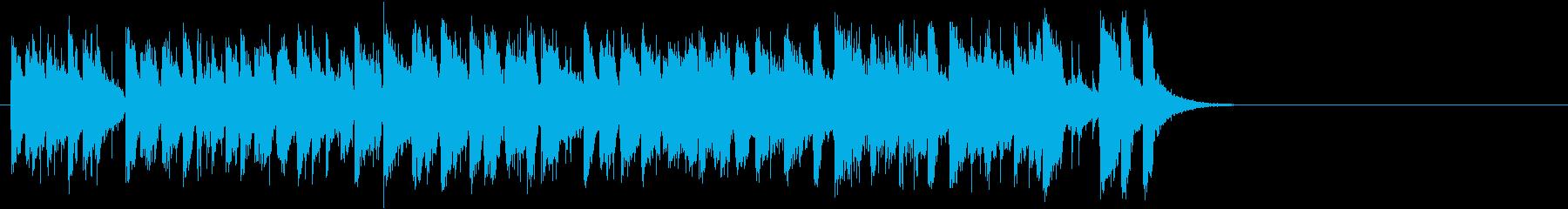 爽快なフュージョン(Aメロ)の再生済みの波形