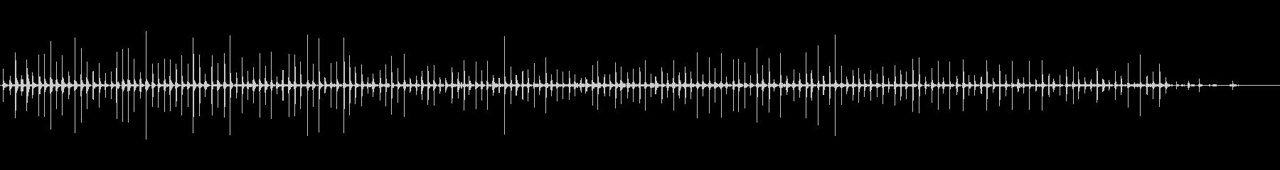 バイノーラル足音走るパンプス女性後の未再生の波形