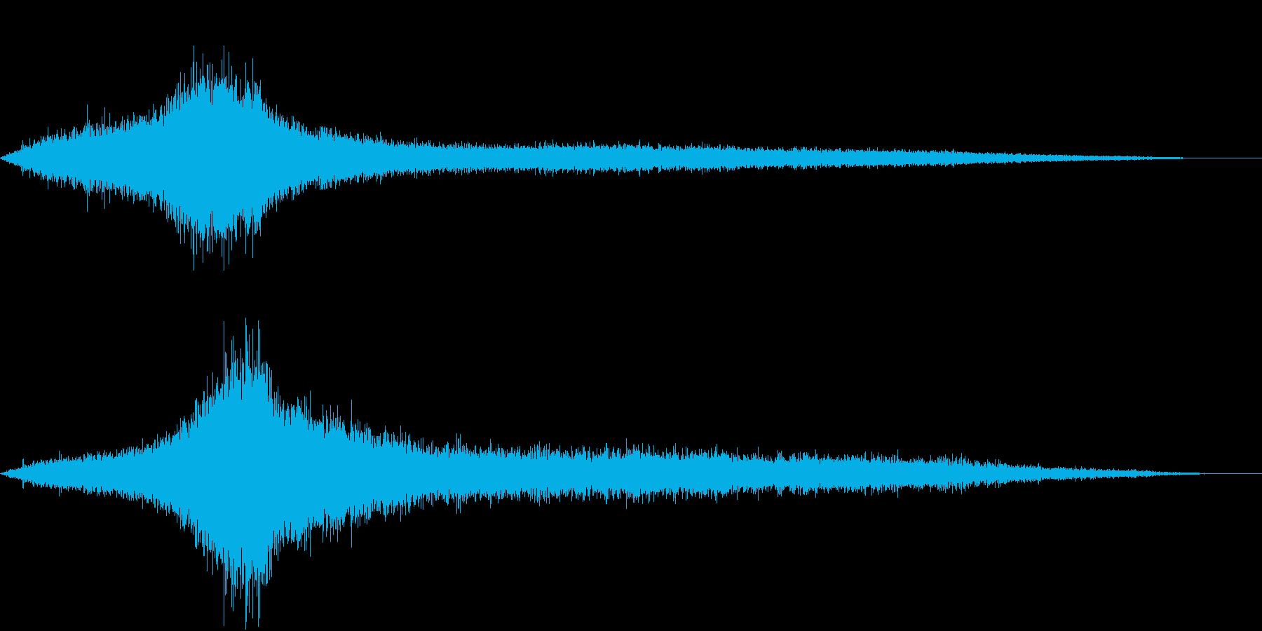 【生録音】建設会社のトラックの通る音の再生済みの波形