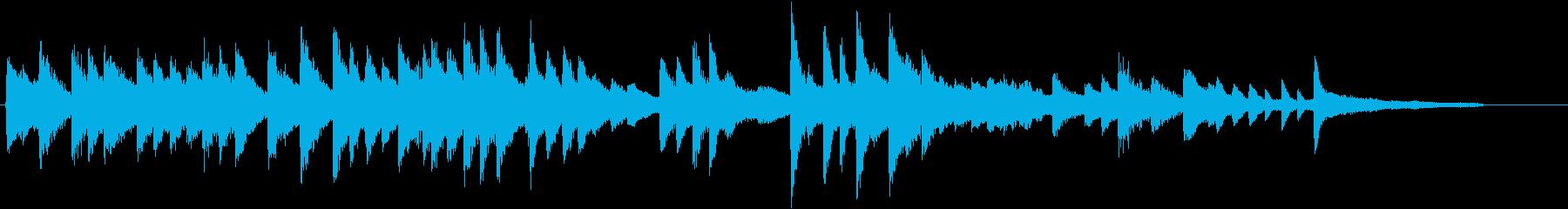 証城寺の狸囃子モチーフのピアノジングルDの再生済みの波形