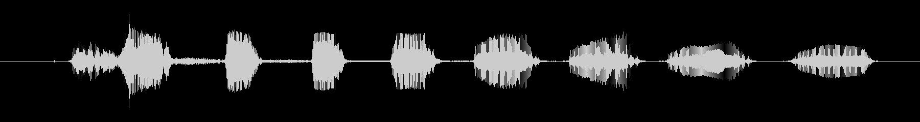 ドワーフ 笑01の未再生の波形
