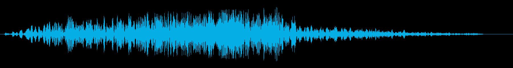 シュイビシューン(通過の音)の再生済みの波形