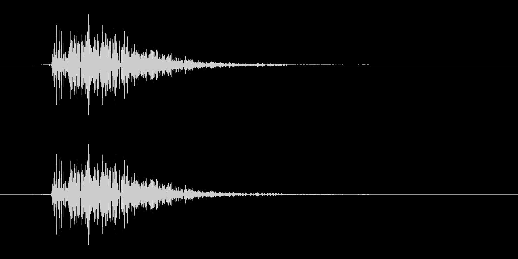 ハードフェイススラップまたはパンチの未再生の波形