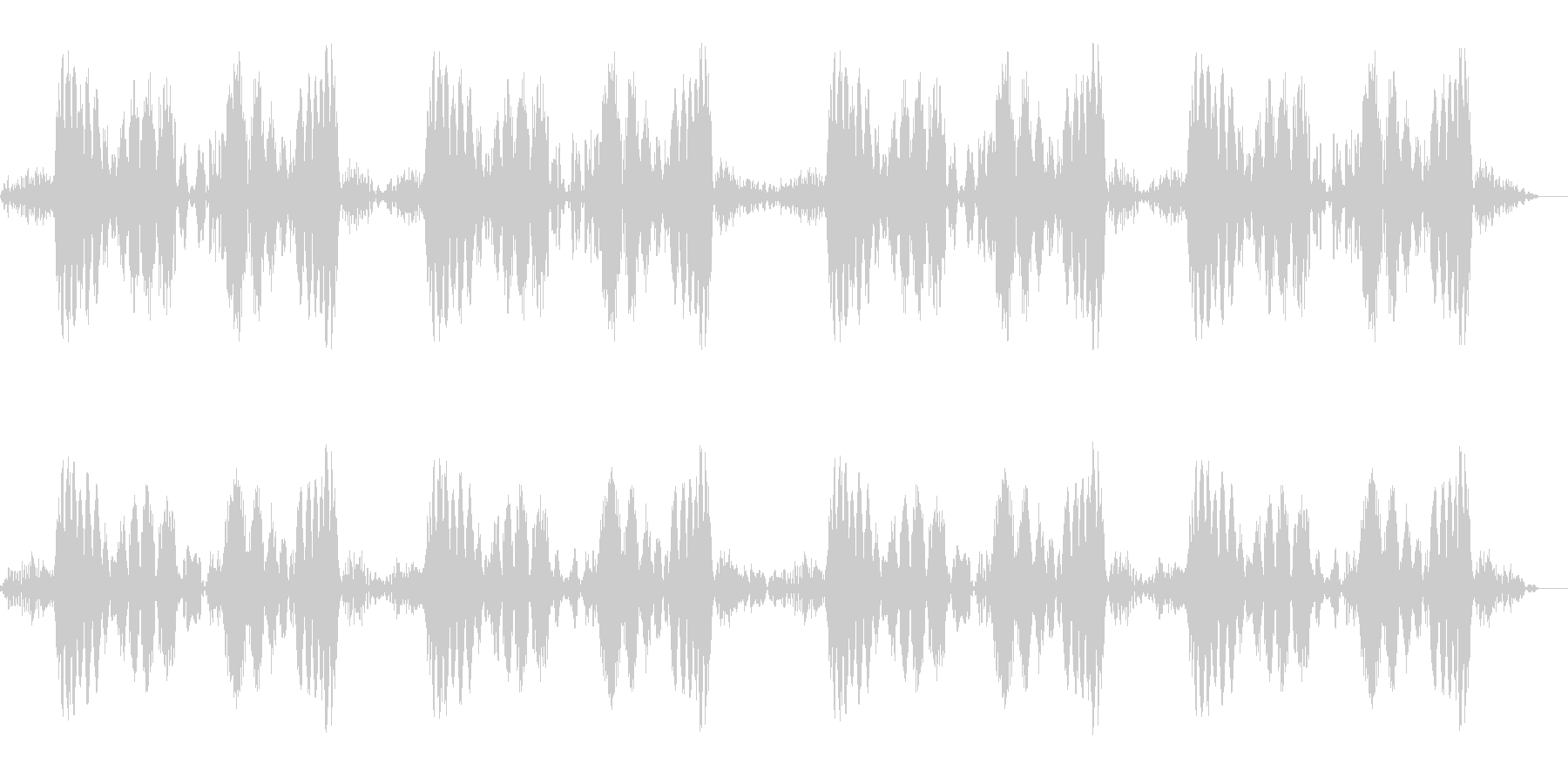 キュパ×4回(レコードスクラッチの音)の未再生の波形