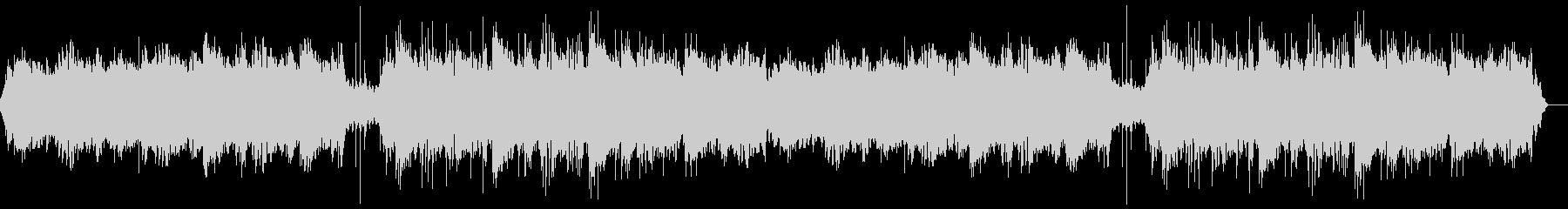 暖かアンビエントシンセと印象的なピアノ曲の未再生の波形