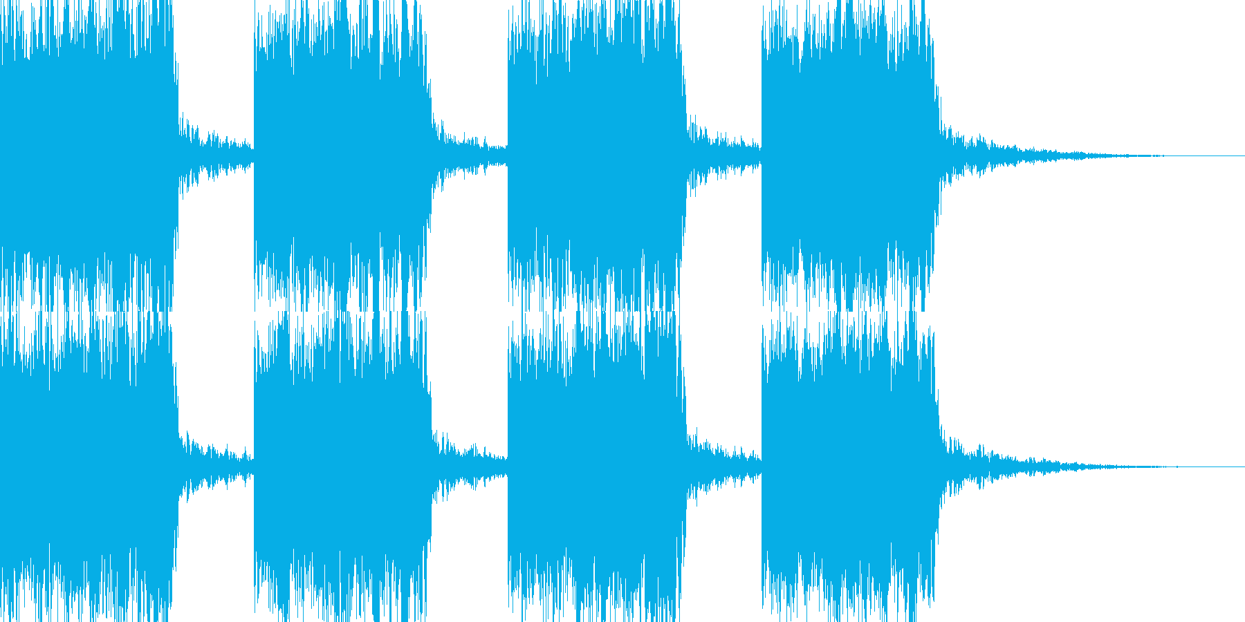 研究所などでの警報の再生済みの波形