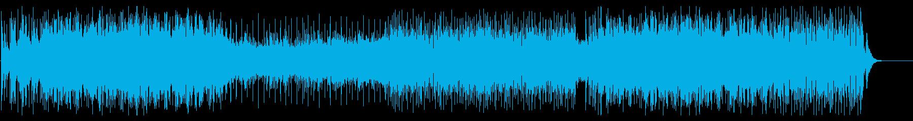 メロディアスなエモ系ロックの再生済みの波形