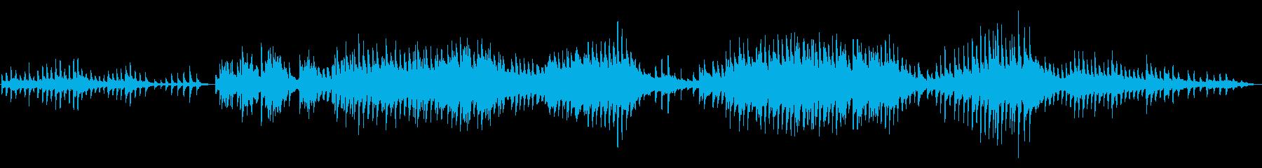 やさしく穏やかなゆったりとしたピアノ曲の再生済みの波形