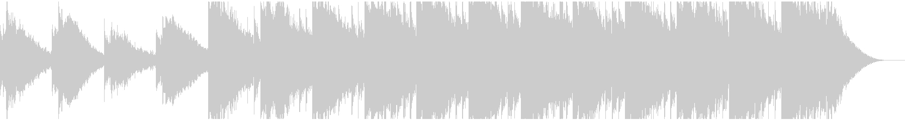 ピアノ主旋律のアンビエント ヒーリングの未再生の波形