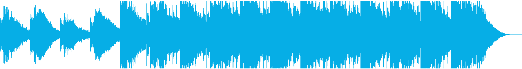 ピアノ主旋律のアンビエント ヒーリングの再生済みの波形