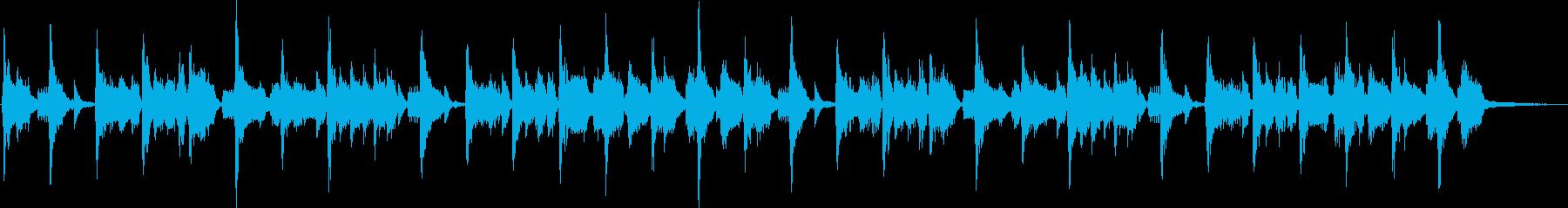 ノリの良いダンス系のファンクジングルの再生済みの波形