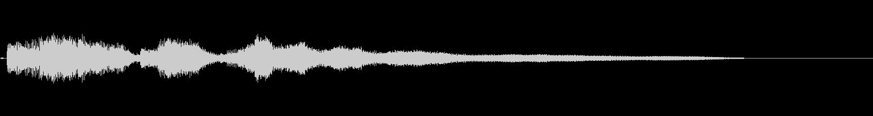 ギターによる謎めいた場面転換音・長めの未再生の波形