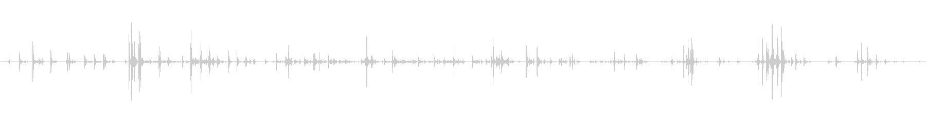 家庭 カップガラガラソフト01の未再生の波形