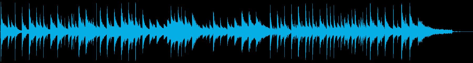 モダンな純邦楽風・和風の小曲の再生済みの波形
