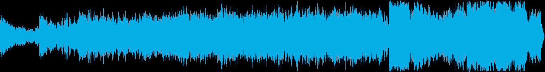 豪華なフィールドBGM、ループ仕様の再生済みの波形