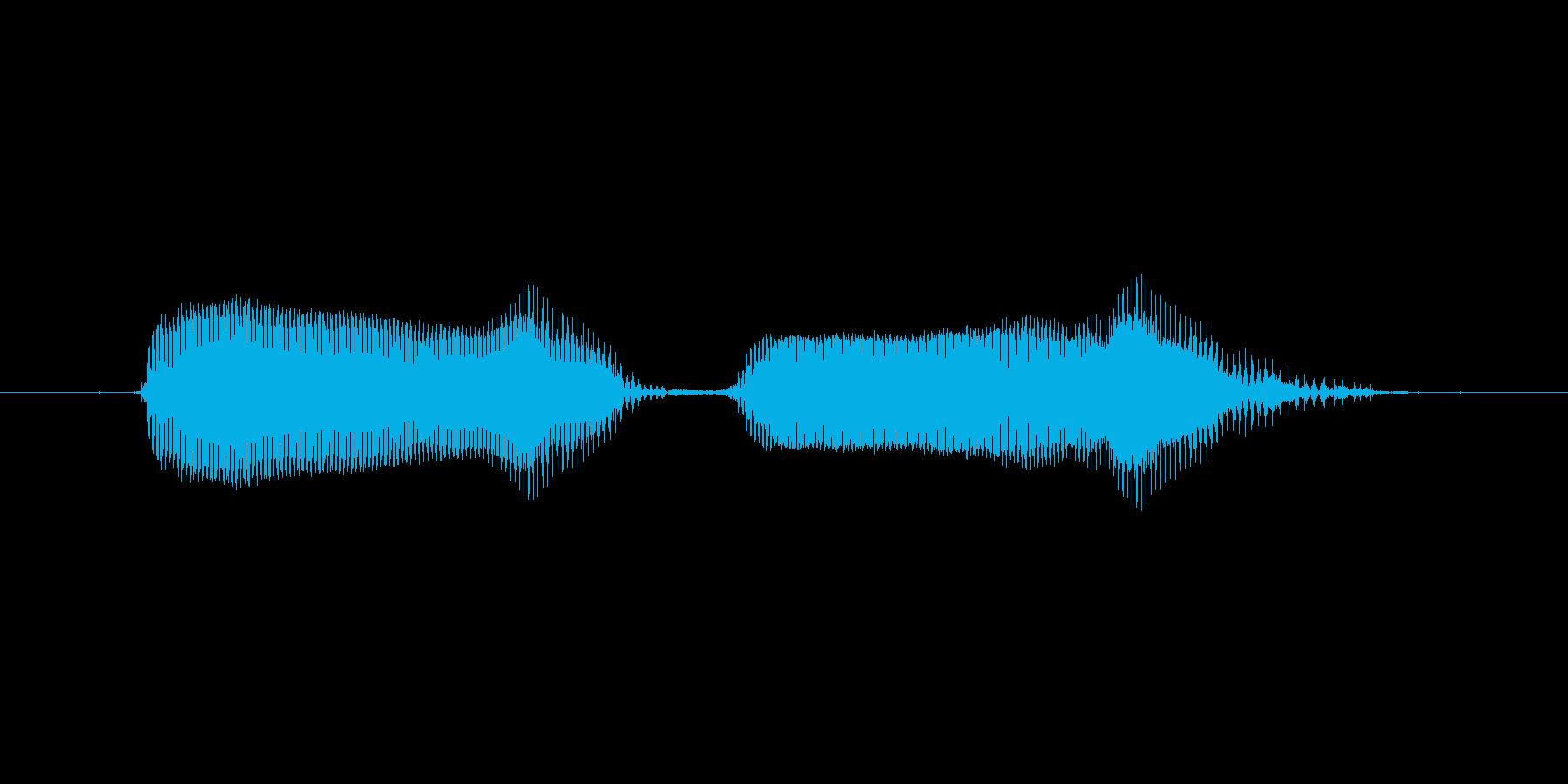 【ボイスSE】ぶーぶーの再生済みの波形