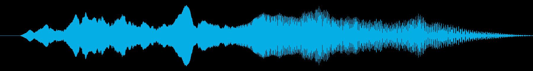 落下 ワープ 落ちる ポップ デジタルの再生済みの波形