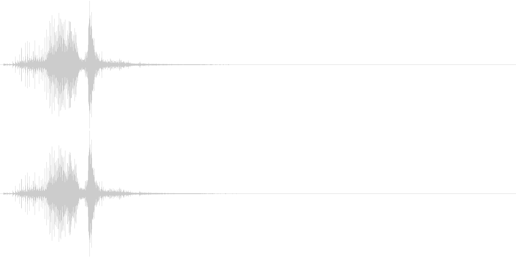 音侍SE「ジャラッ」びんざさら(木片)の未再生の波形