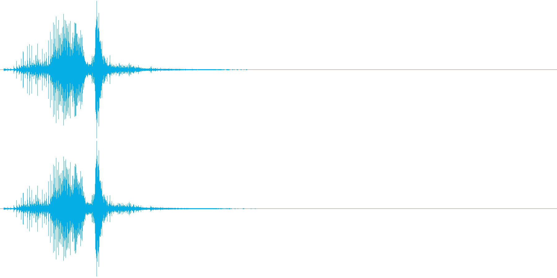 音侍SE「ジャラッ」びんざさら(木片)の再生済みの波形