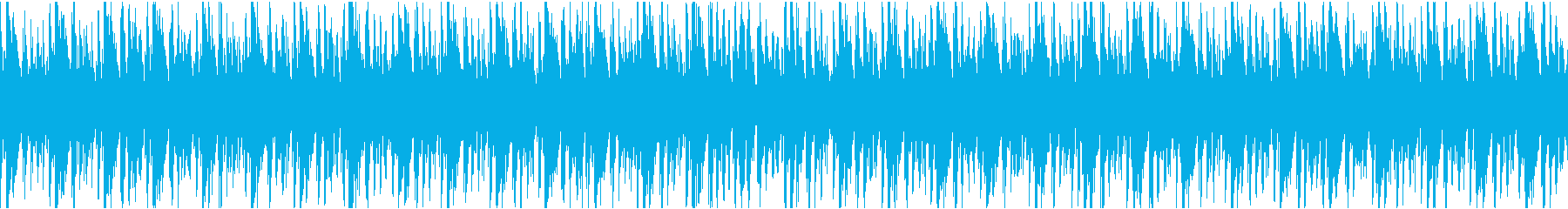 ノリの良いEDMループの再生済みの波形