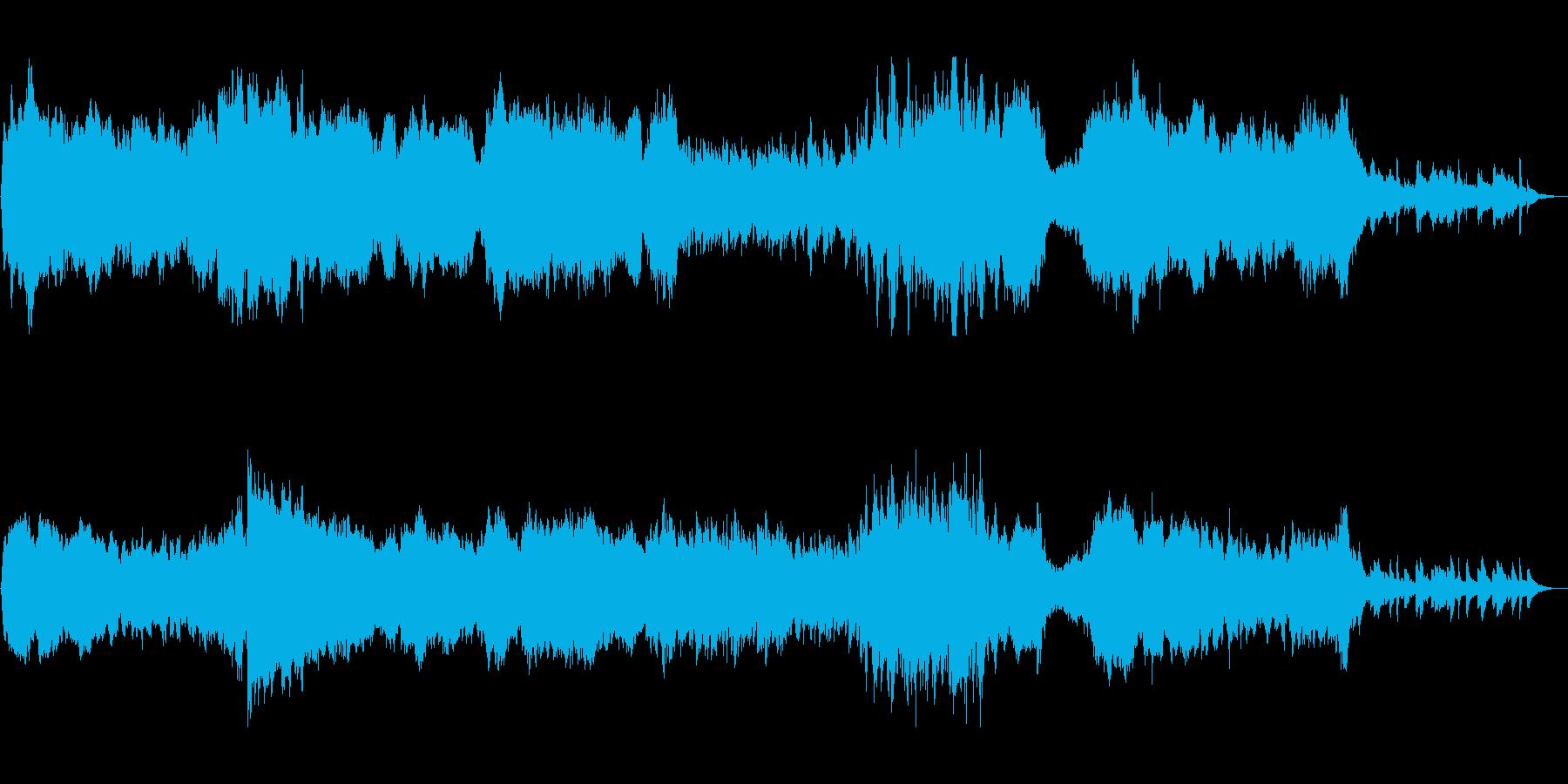 美しく明るいピアノシンセサウンドの再生済みの波形