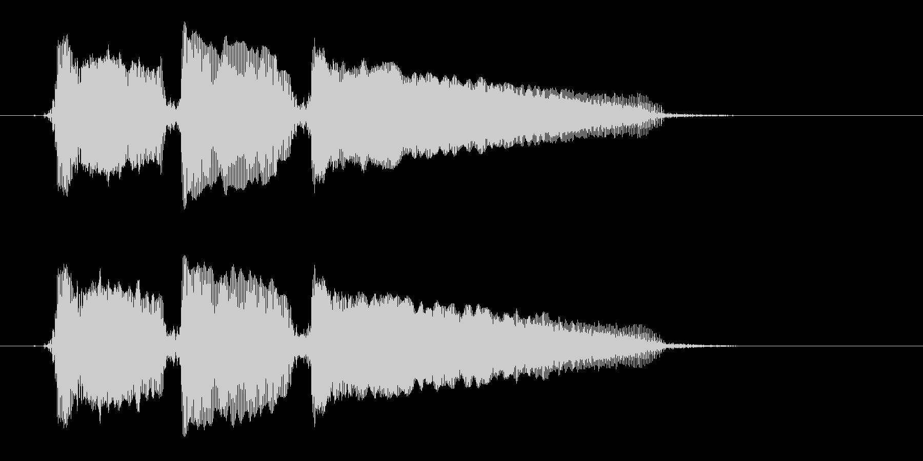 「ホゥホゥホゥ」の未再生の波形