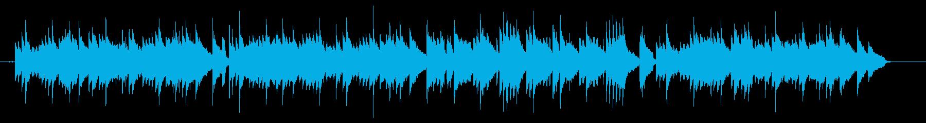 ピアノ主体の少し和風なヒーリング曲の再生済みの波形