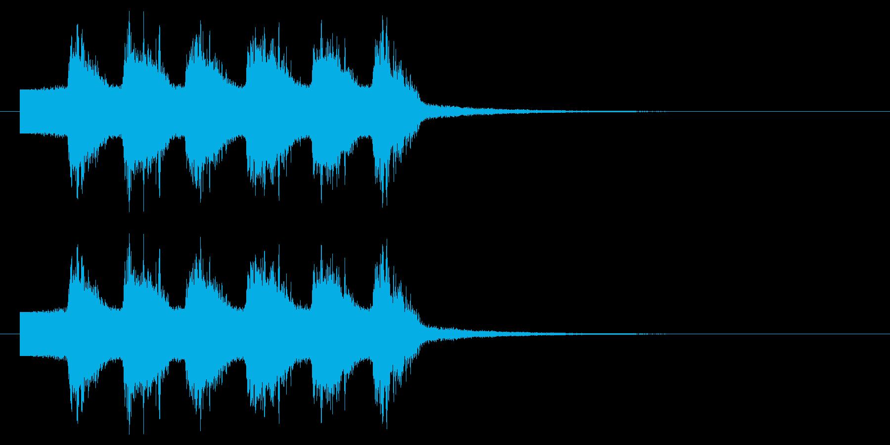 光線 ビーム インパクト音の再生済みの波形