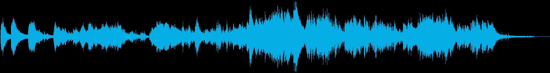 現代音楽、無拍子のピアノ曲ですの再生済みの波形