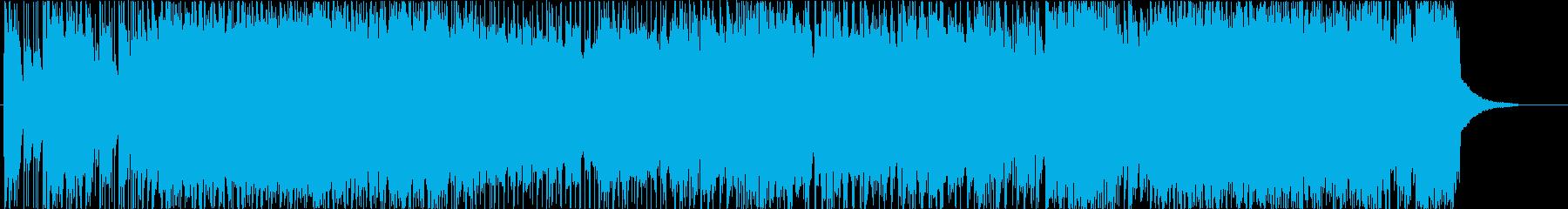 ヘヴィな和風ロックの再生済みの波形